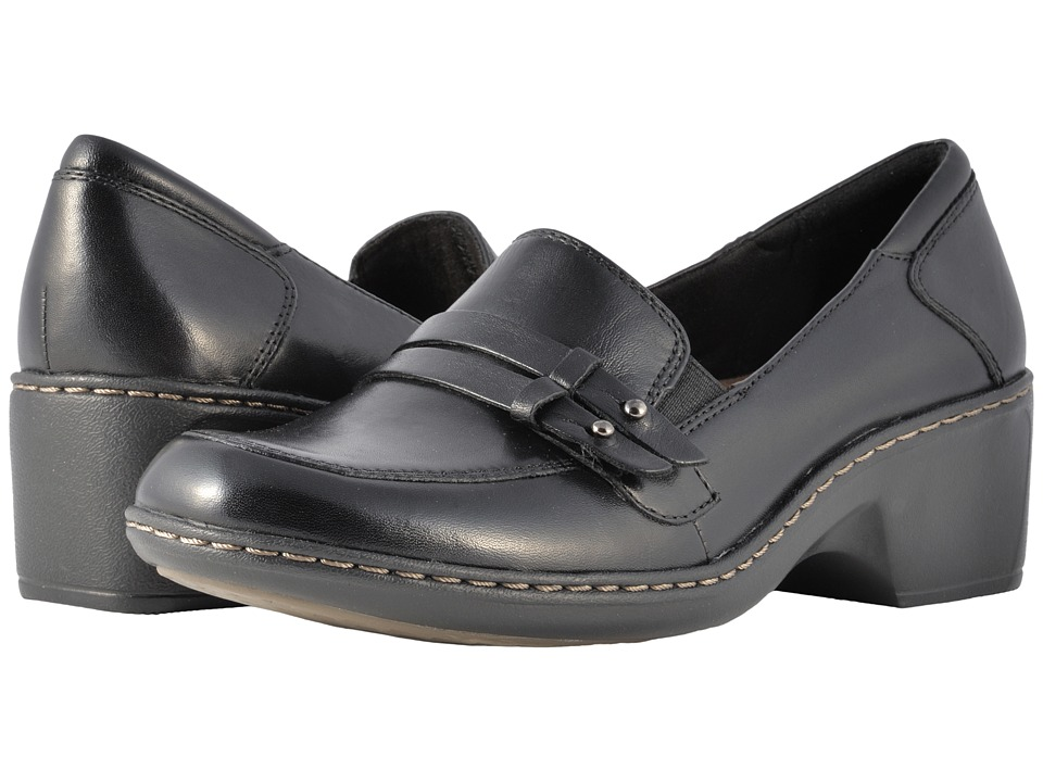 Cobb Hill Deidre Black Womens Wedge Shoes