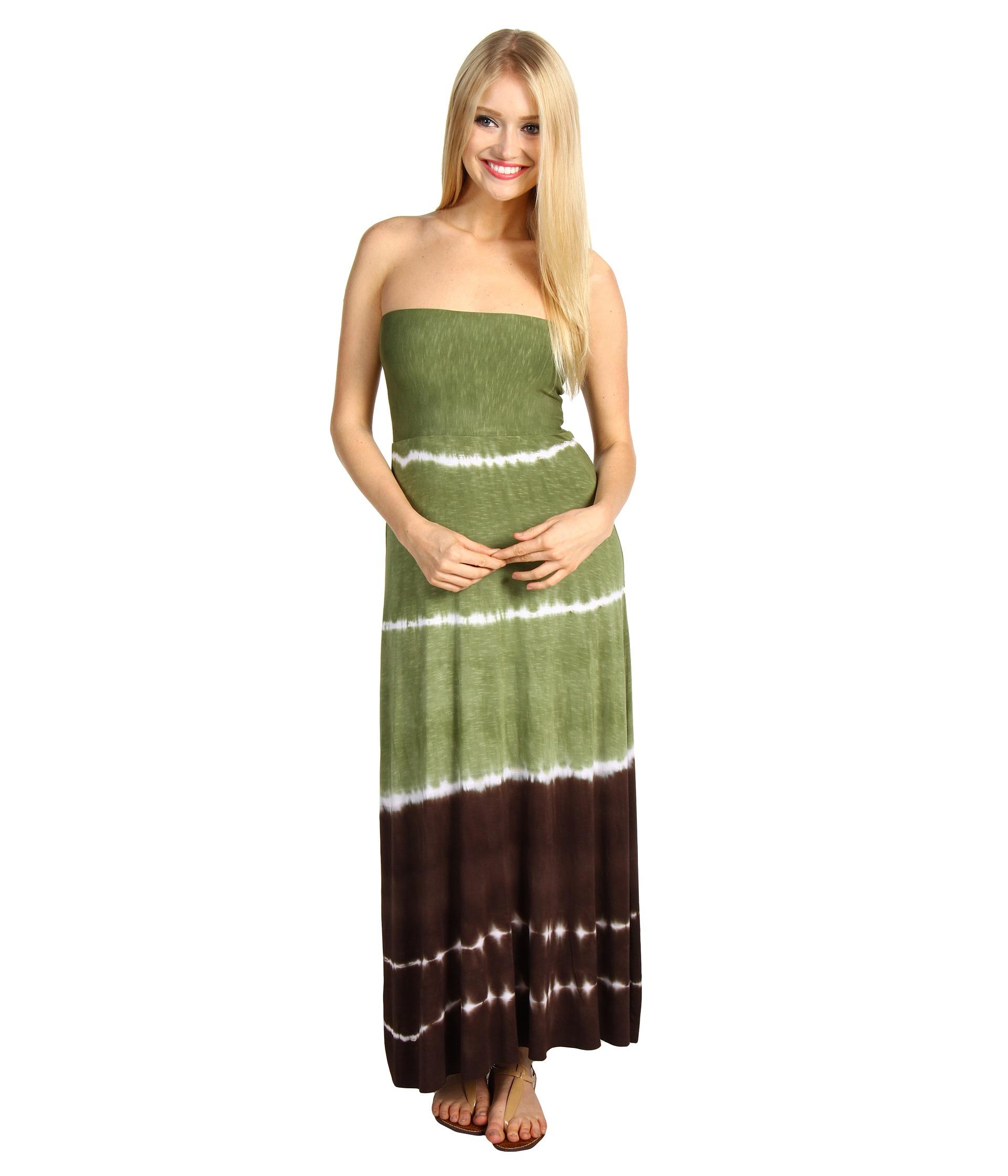 Lucky Brand Summer Lovin Tube Dress Skirt Green Tea