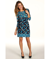 Donna Morgan - Three-Quarter Length Sleeve Side Tie Jersey Dress