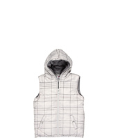 Appaman Kids - Plaid Puffy Vest W/ Hood (Little Kids/Big Kids)