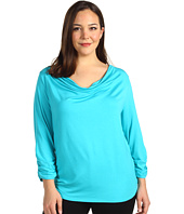 Karen Kane Plus - Plus Size Twist Top W/Shirred Sleeve