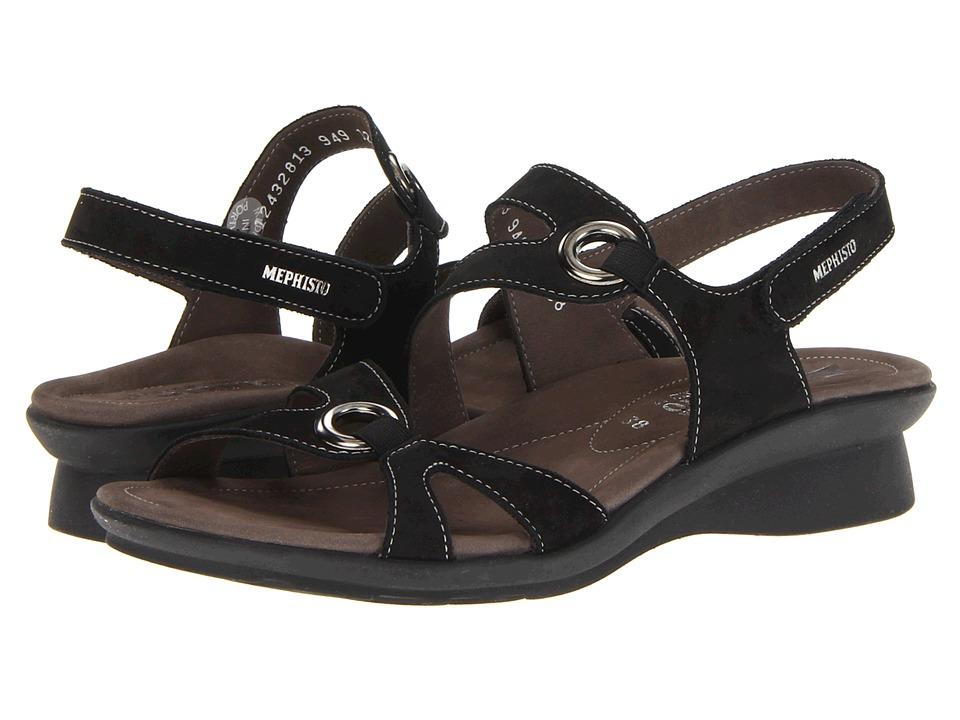 Mephisto - Parfolia (Black Bucksoft) Women's Sandals