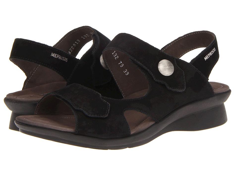 Mephisto Prudy Black Bucksoft Womens Sandals