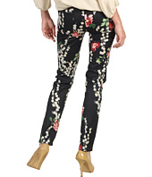 7 For All Mankind - The Slim Cigarette in Black Cherry Blossom Print