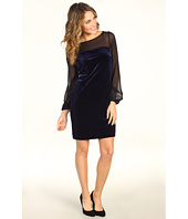 Donna Morgan - Quinn Solid Velvet Sheath Dress