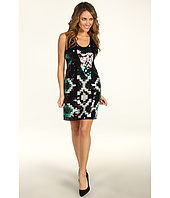 Donna Morgan - Racerback Sequin Tribal Pattern Mini Dress
