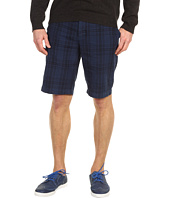 Vince - Garment Dyed Plaid Trouser Short