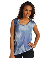 DKNY Jeans - Sublimation Cloud Print Asymmetrical Top