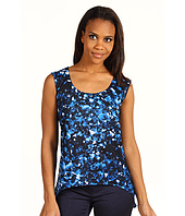 DKNY Jeans - Broken Glass Print Top w/ Drapey Hem