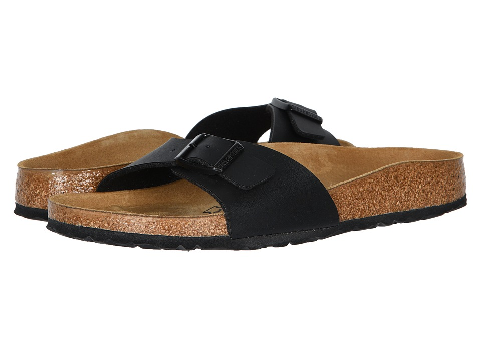 Birkenstock Madrid Slip-On (Black Birko-Flor) Women's Sandals, Footwear, wide width womens sandals, wide fitting sandal, WW