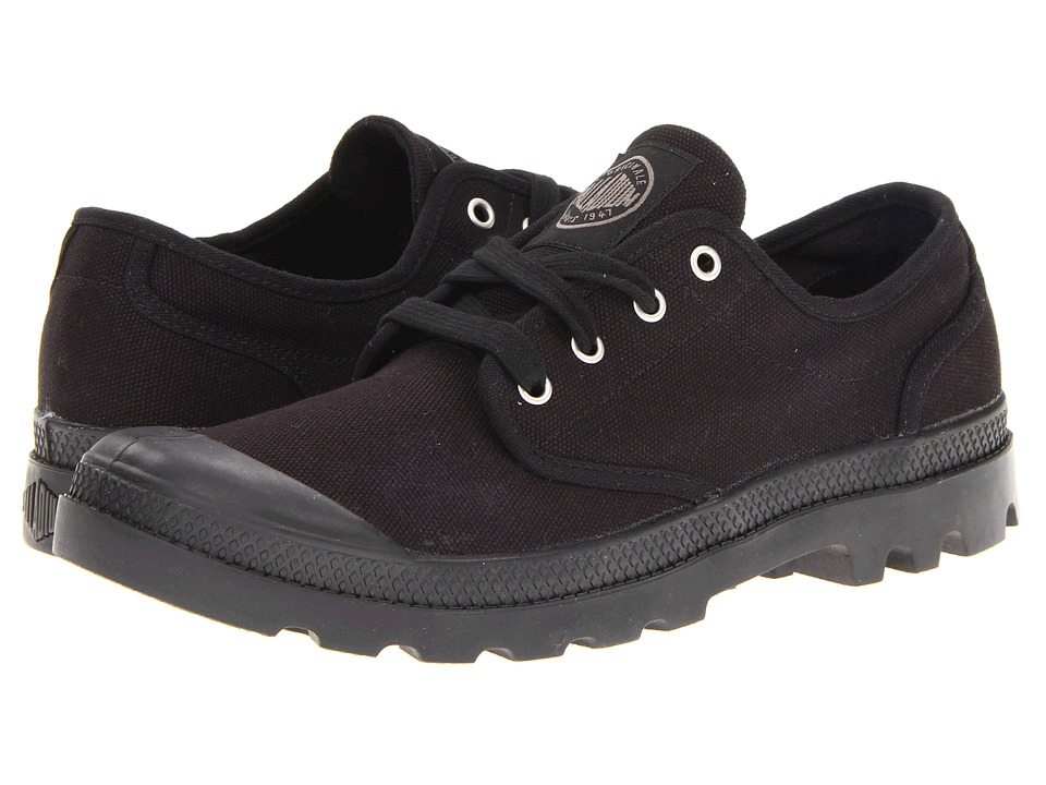Palladium Pampa Oxford Black/Black Mens Lace up casual Shoes
