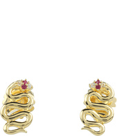Elizabeth and James - Meadowlark Snake Stud Earring with White Sapphire & Ruby