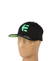 Cheap Etnies Icon 5 Flexfit Hat Black Green Black