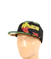 Cheap Etnies Chebby 210 Flexfit Hat Black Green Gold