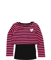 Puma Kids - L/S Crop Tee w/ Stripe Tank Top (Little Kids)