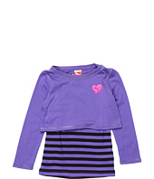 Puma Kids - Crop L/S Tee w/ Stripe Tank (Little Kids)