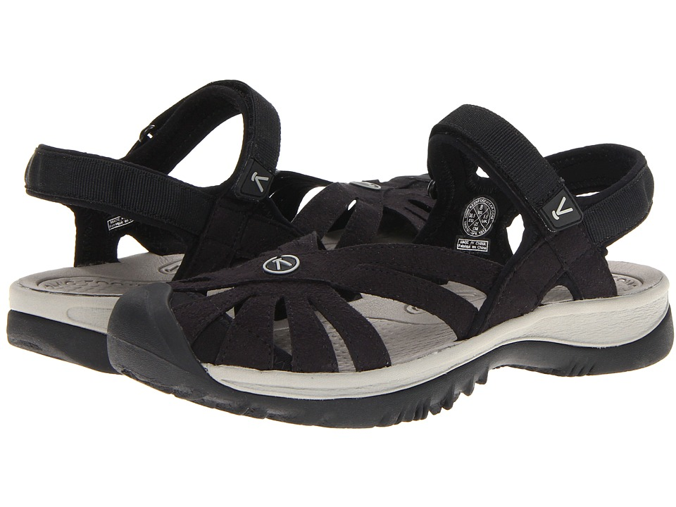Keen - Rose Sandal (Black/Neutral Gray) Womens Shoes