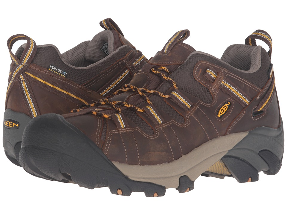 Keen - Targhee II (Cascade Brown/Golden Yellow) Mens Waterproof Boots