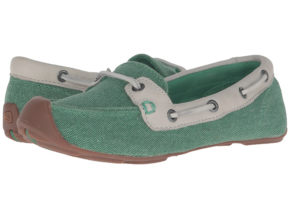 Keen - Catalina Canvas Boat Shoe (Greenbriar/Whisper White) Women