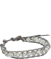 Chan Luu - Crystal Black Diamond Single Bracelet On Natural Grey Leather