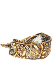 Chan Luu - Snake Print Silk Chiffon Tie Bracelet With Chain and Sequins