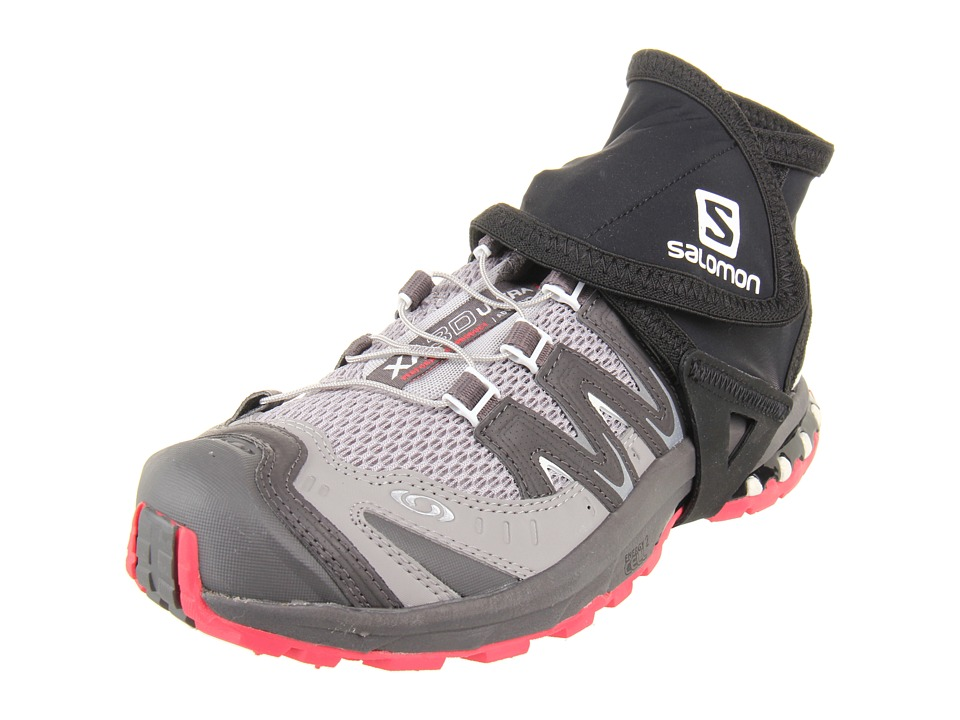 Salomon - Trail Gaiters Low (Black) Overshoes Accessories Shoes