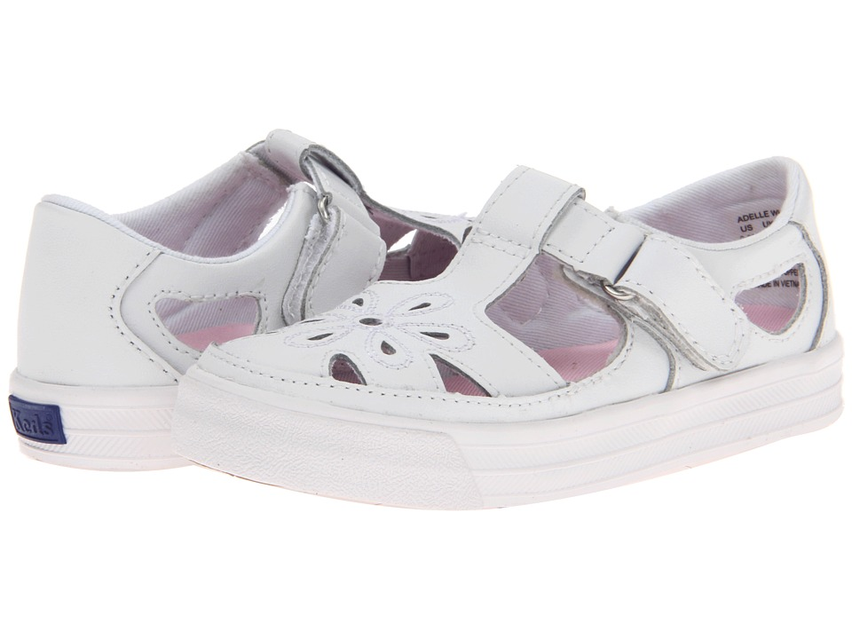 Keds Kids Adelle T Strap Toddler/Little Kid White Girls Shoes