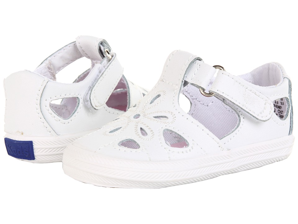 Keds Kids Lil' Adelle T-Strap (Infant) (White) Girls Shoes