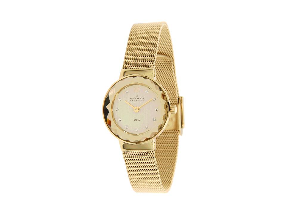 Skagen 456SGSG Swarovski Elements Watch Gold/Champagne Analog Watches