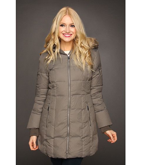 MICHAEL Michael Kors - Vicki Down Coat (Flannel) - Apparel