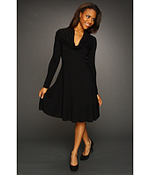 Karen Kane - Cosmopolitan Long Sleeve Drape Neck Dress
