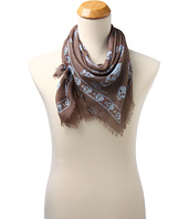 Cheap Alexander Mcqueen Skull Scarf Taupe Sky Blue