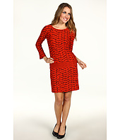 Donna Morgan - Three-Quarter Length Sleeve Drop Torso Dress