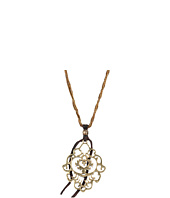 Lucky Brand - Gold Openwork Pendant With Gold Beads