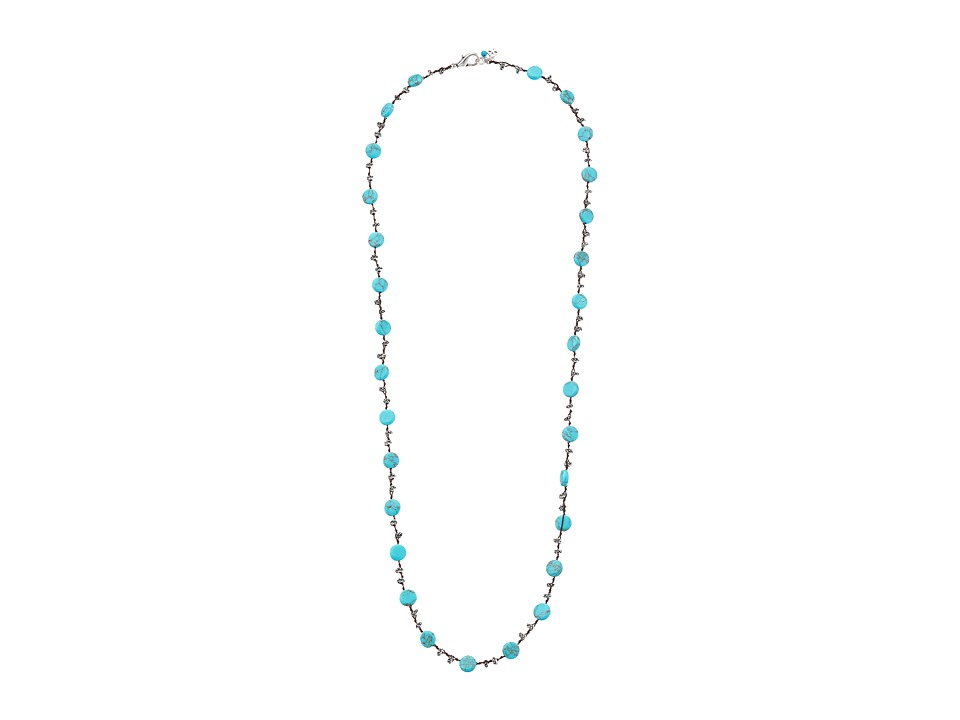 Lucky Brand - Turquoise Hammered Coin Necklace (Turquoise) Necklace