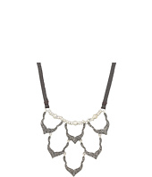 Lucky Brand - Pave Bib Necklace on Leather
