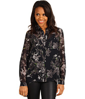 Kenneth Cole New York - Printed Blouse w/ Layered Back