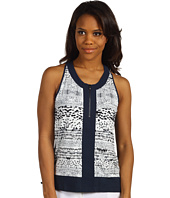 Kenneth Cole New York - Front Zip Printed Tank