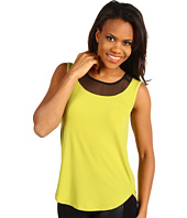 Kenneth Cole New York - Tank Top w/ Sheer Neck