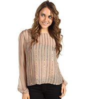 Michael Stars - Beaded Silk Chiffon Top