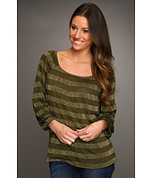 Michael Stars - Striped Raglan Peasant Top