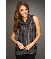 Kenneth Cole New York - Drop Needle Ribbed S/L Cowl Neck