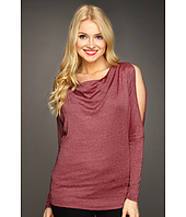 Michael Stars - Shine Split Sleeve Drape Neck Top