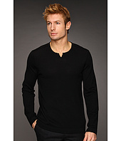 John Varvatos Star U.S.A. - Merino Sweater w/ Leather Elbow Patches