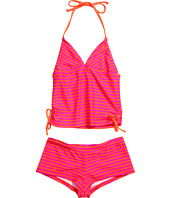 Hurley Kids - Surfside Stripe Tankini & Boyshort (Big Kids)