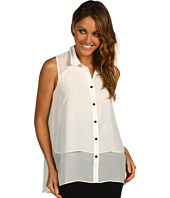 Kenneth Cole New York - Sleeveless Double-Layer Shirt