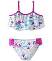 Hurley Kids - Flamo Crop Top & Tab Side (Big Kids)