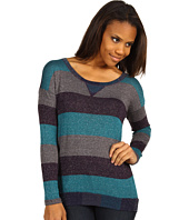 Splendid - Bordeaux Stripe Loose knit L/S Crew