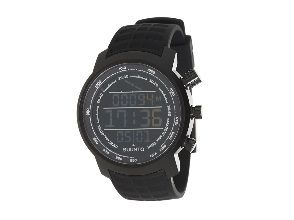 Suunto - Elementum Terra Negative Face w/ Rubber Band (Black) Watches