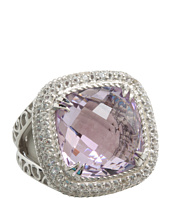 DeLatori - Pink Amethyst and Crystal Ring
